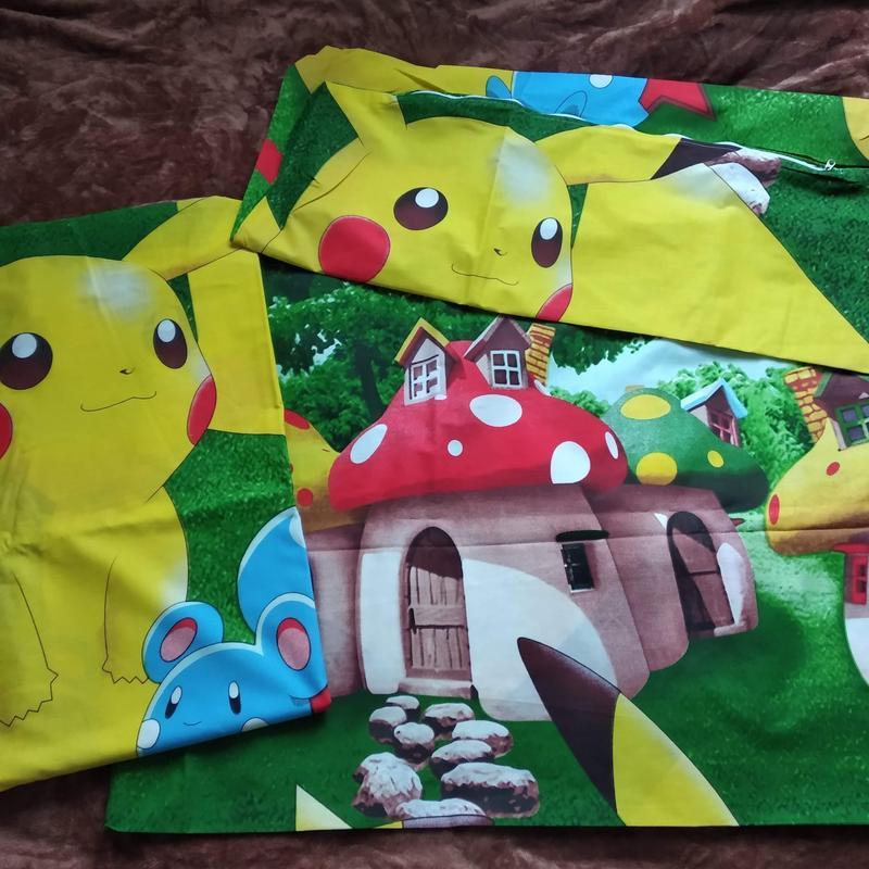 Полуторный комплект детского постельного белья пикачу - Фото 6