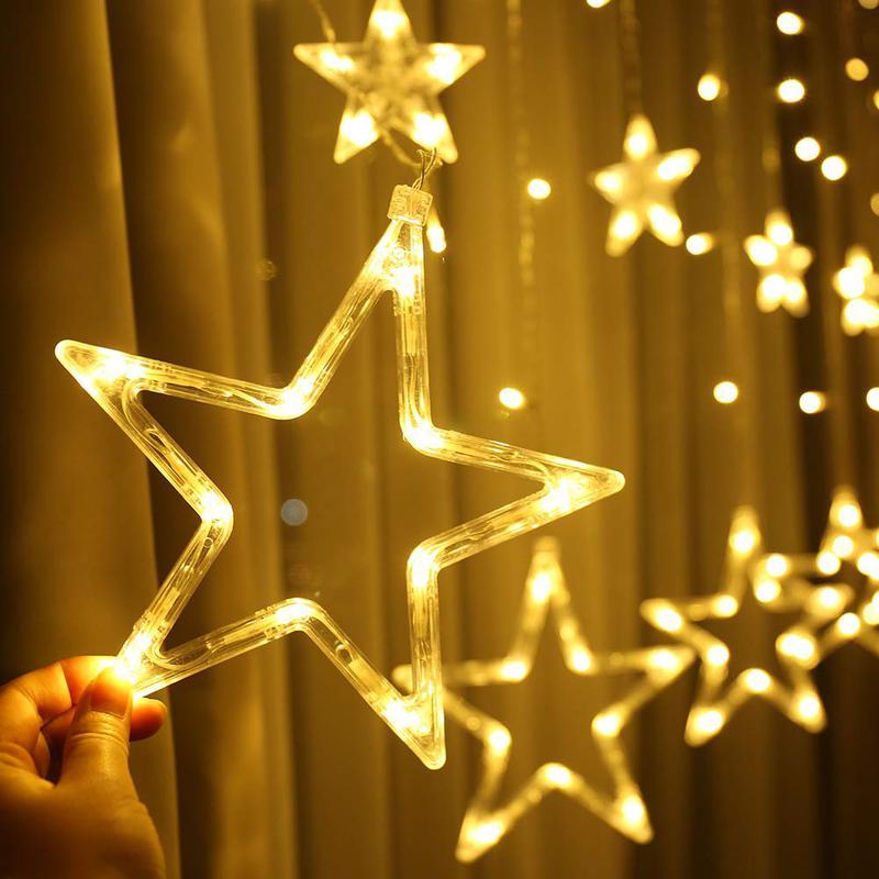 Гірлянда-штора Зірки Гирлянда-штора Звезды 3мх1м теплий білий - Фото 3