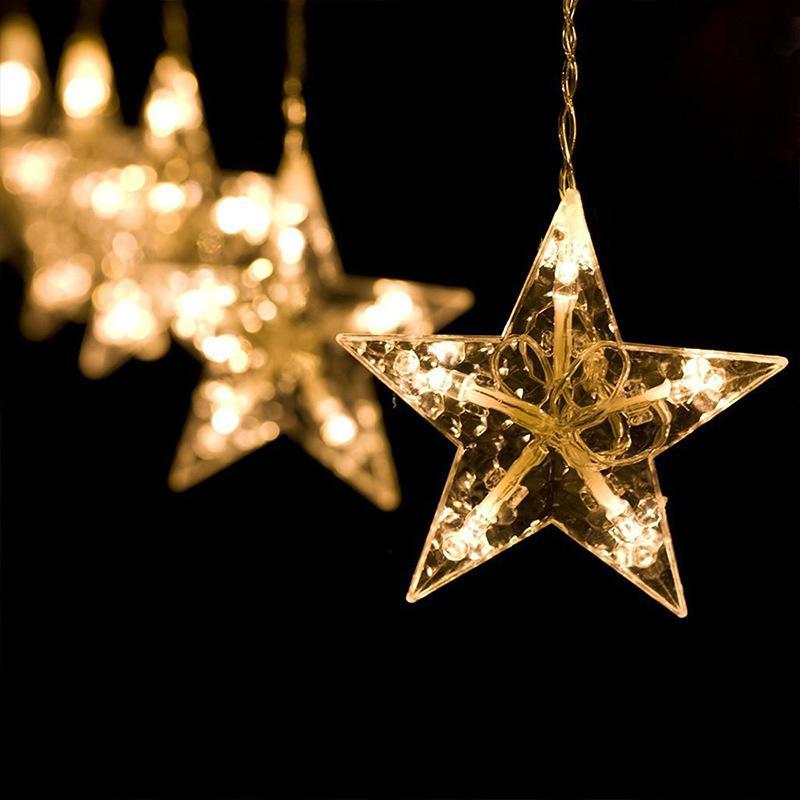 Гірлянда-штора Зірки Гирлянда-штора Звезды 3мх1м теплий білий - Фото 4
