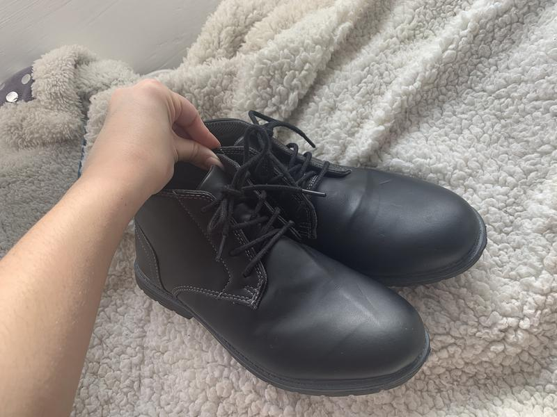 Мужские ботинки демисезонные из кожзаменителя - Фото 3