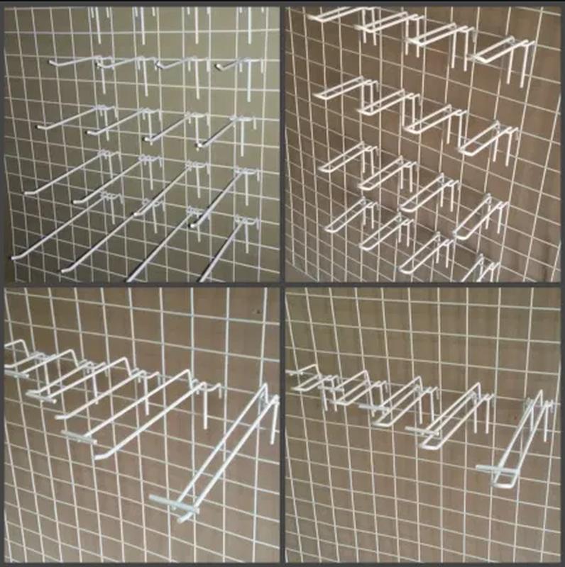 Крючки витринные двойные 20см (на сетку)