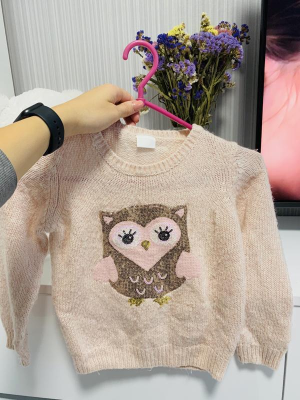Великолепный тёплый свитер совушка ????????????