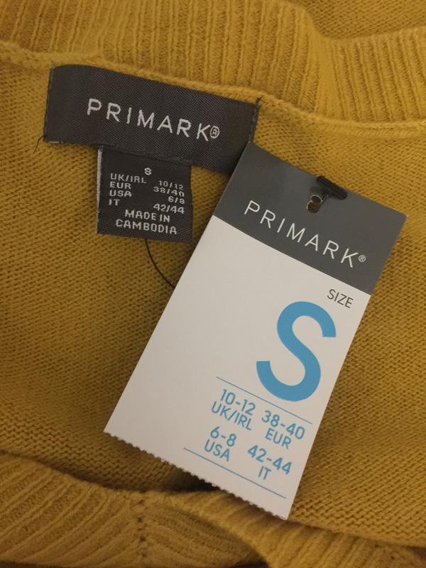 Горчичный пуловер primark размеры новый. - Фото 6