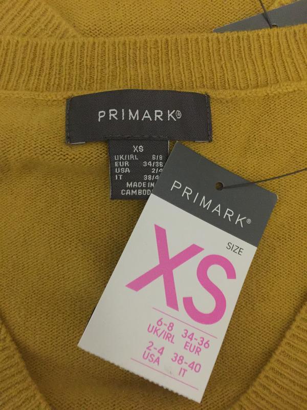 Горчичный пуловер primark размеры новый. - Фото 7