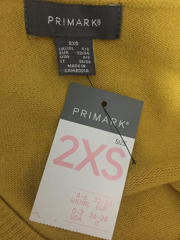 Горчичный пуловер primark размеры новый. - Фото 8