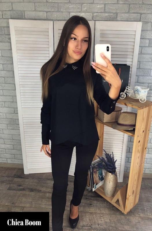 Распродажа! рубашка черная, рубашка женская, универсальная