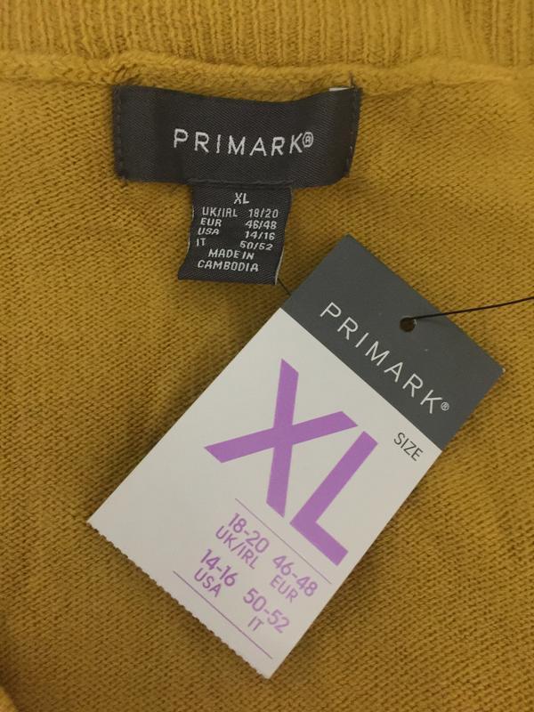 Горчичный пуловер primark размеры. - Фото 8