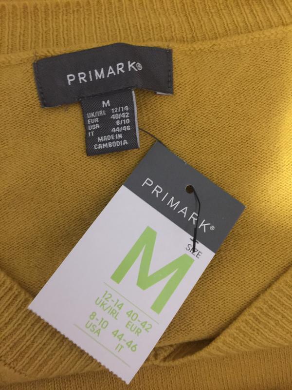 Горчичный пуловер primark размеры. - Фото 5