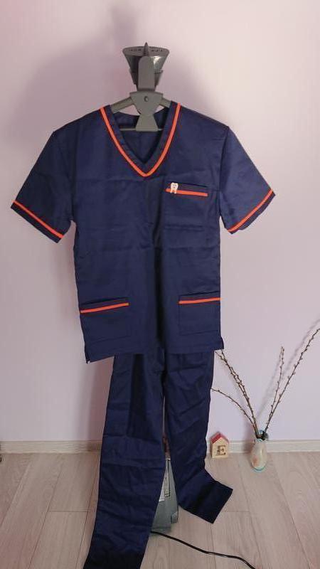 Мед. костюм синий. Медицинская одежда.