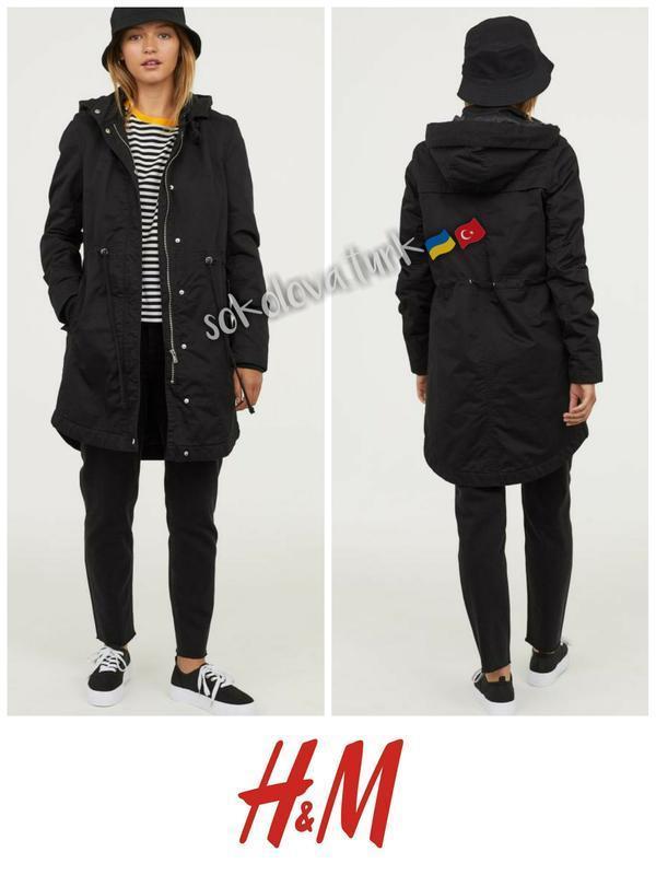 Утепленная парка куртка курточка хлопок h&m
