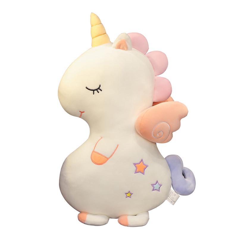Единорог белый игрушка-подушка 60-70 см