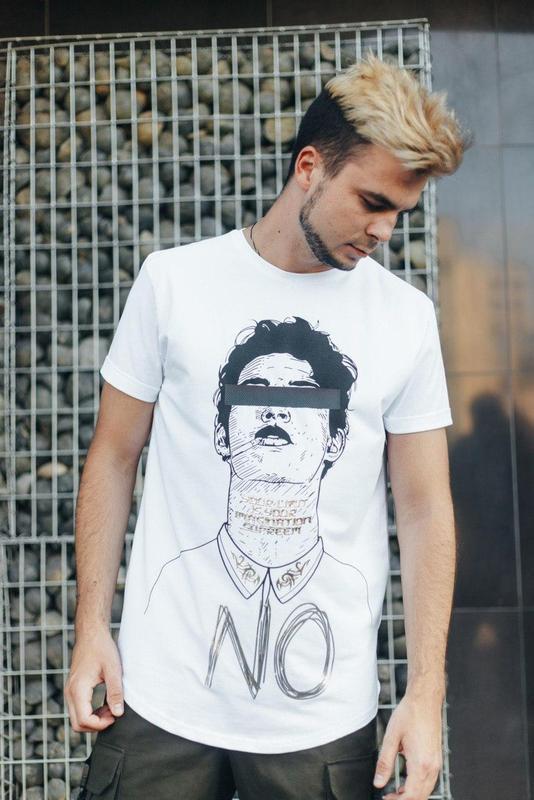 Трендовая футболка унисекс белая с принтом мужская / женская