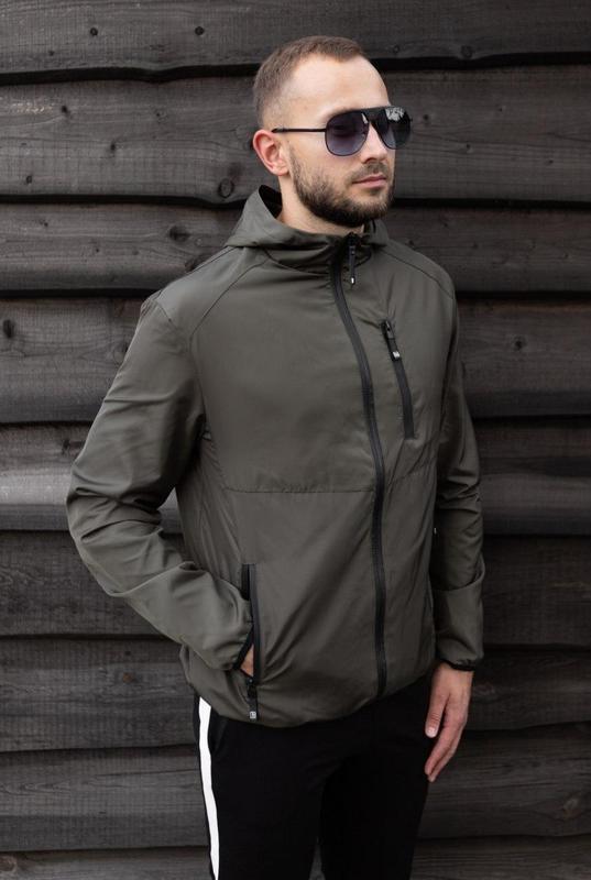 Куртка хаки мужская куртка ветровка деми