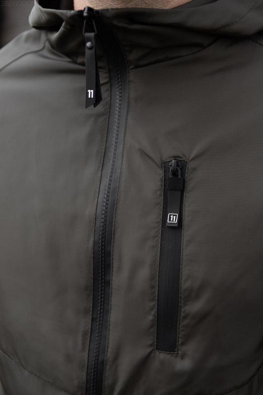 Куртка хаки мужская куртка ветровка деми - Фото 2