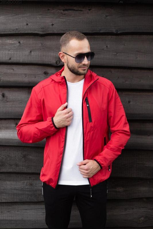 Куртка красная мужская куртка ❤ ветровка деми