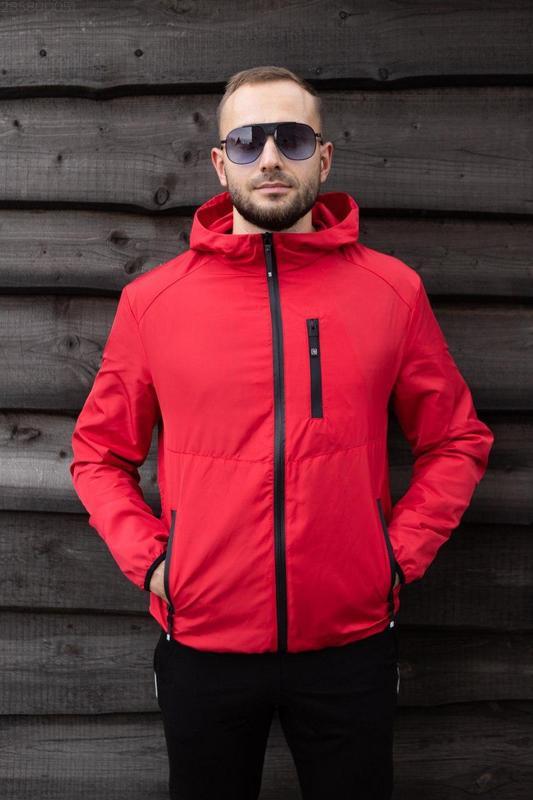 Куртка красная мужская куртка ❤ ветровка деми - Фото 2