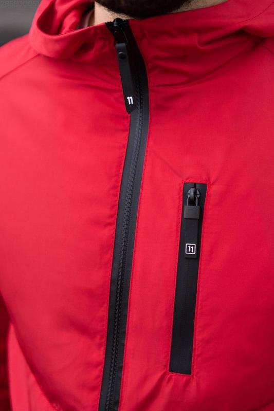 Куртка красная мужская куртка ❤ ветровка деми - Фото 3