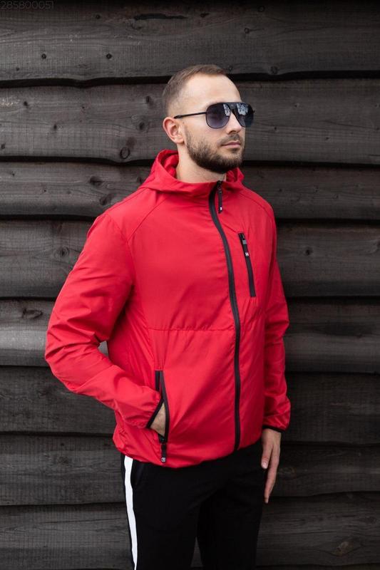 Куртка красная мужская куртка ❤ ветровка деми - Фото 4