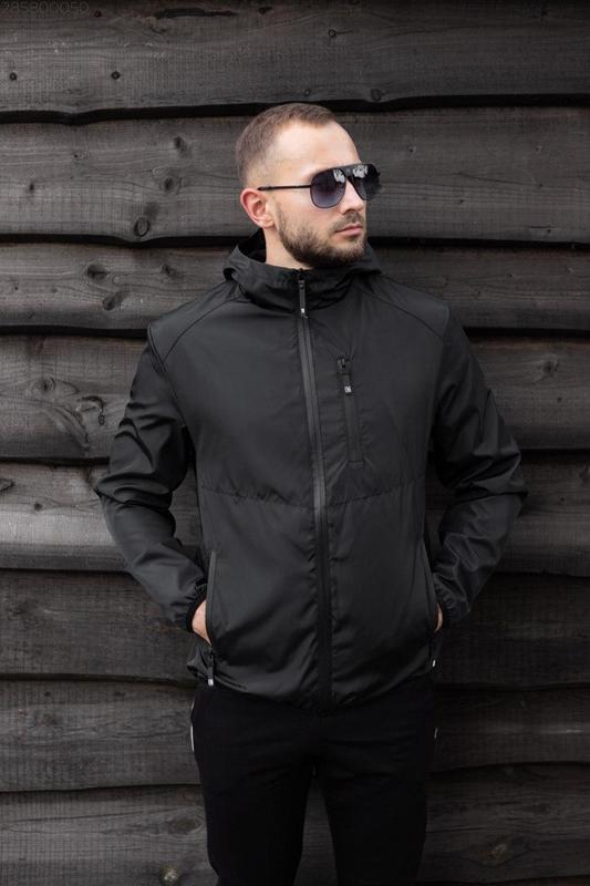 Куртка черная мужская куртка 🖤 ветровка деми