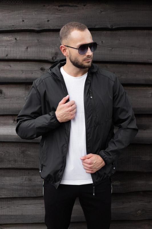 Куртка черная мужская куртка 🖤 ветровка деми - Фото 2