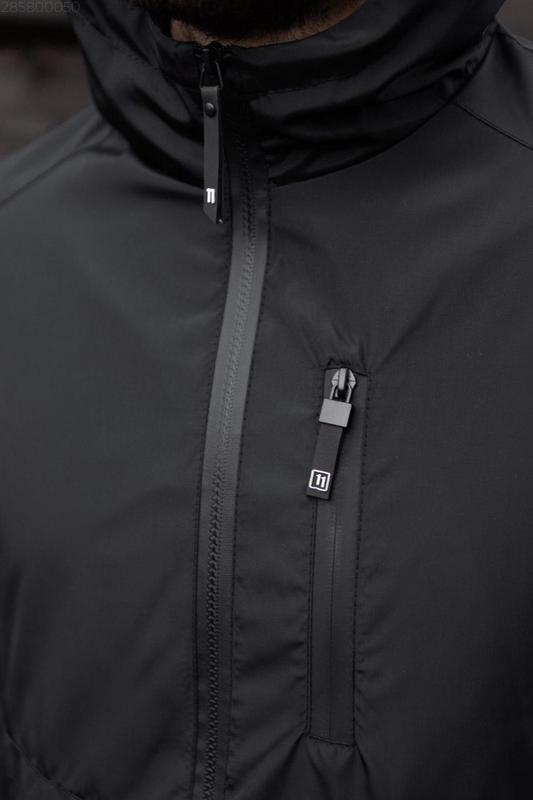 Куртка черная мужская куртка 🖤 ветровка деми - Фото 3