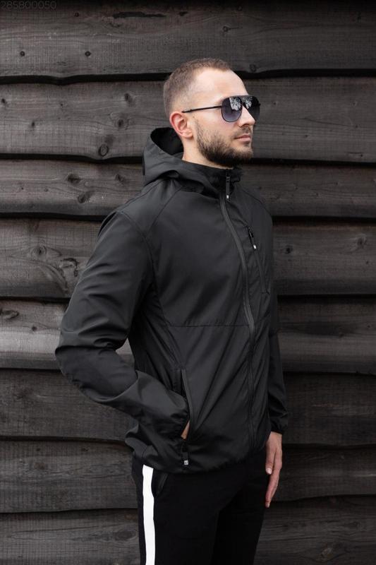 Куртка черная мужская куртка 🖤 ветровка деми - Фото 4