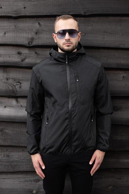 Куртка черная мужская куртка 🖤 ветровка деми - Фото 5