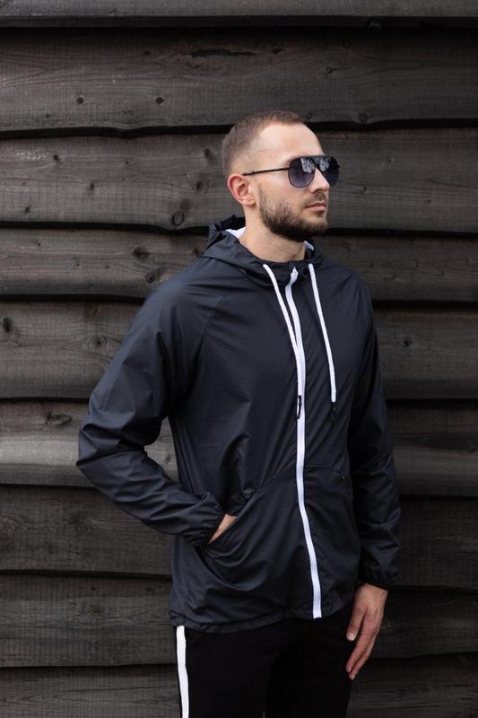 Куртка черная мужская куртка ветровка деми - Фото 4
