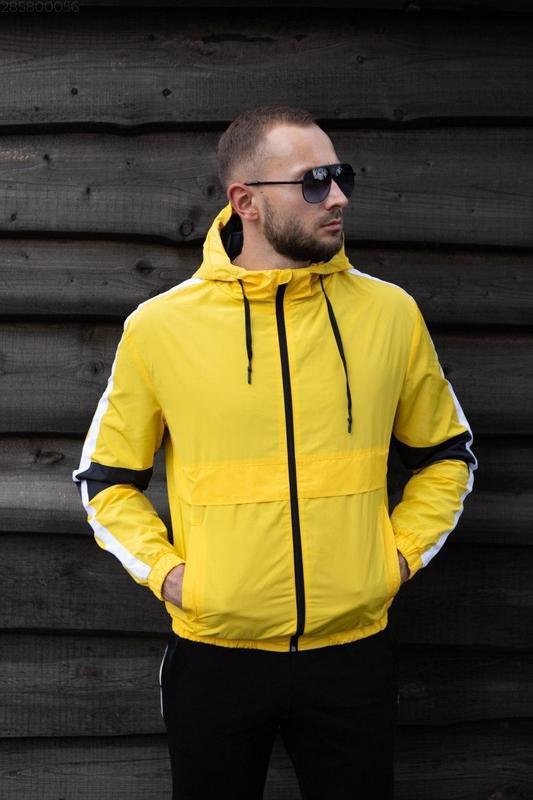 Куртка желтая мужская куртка ветровка деми