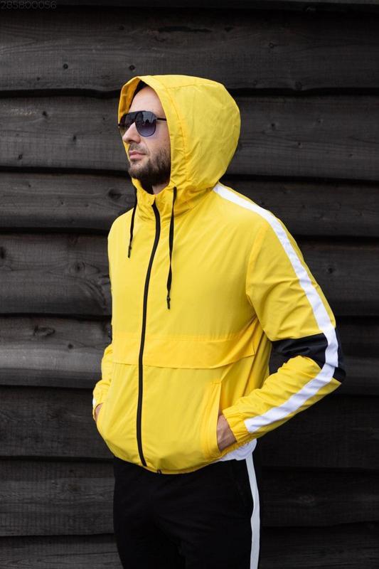 Куртка желтая мужская куртка ветровка деми - Фото 3