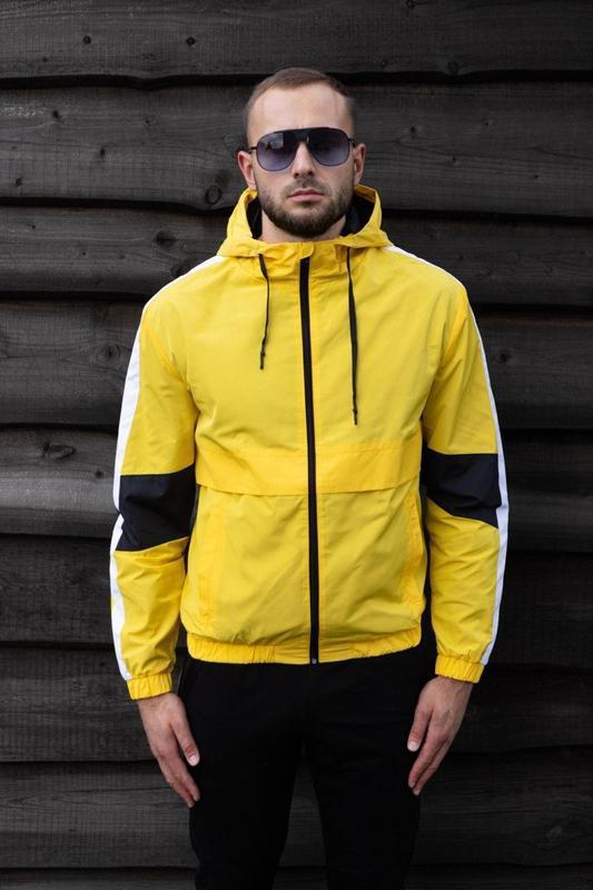 Куртка желтая мужская куртка ветровка деми - Фото 4