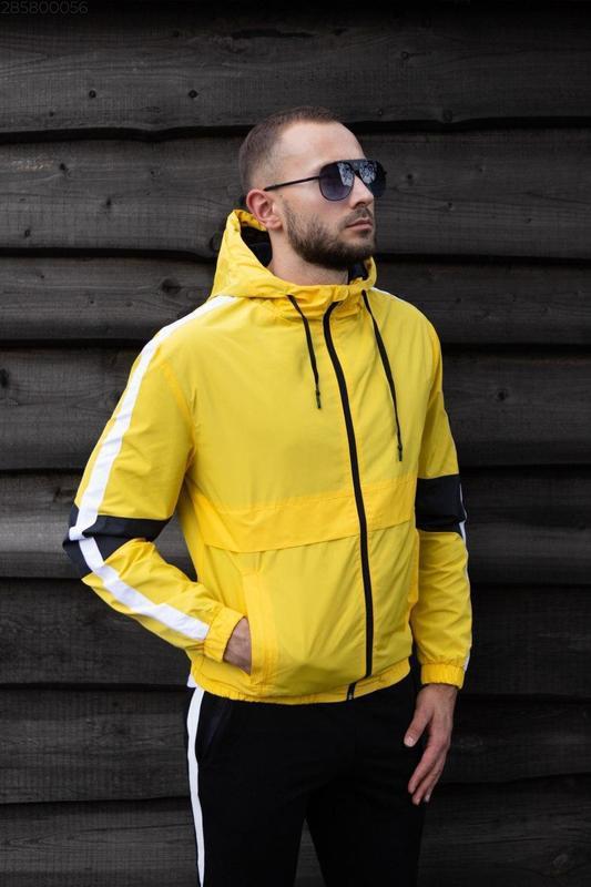 Куртка желтая мужская куртка ветровка деми - Фото 5