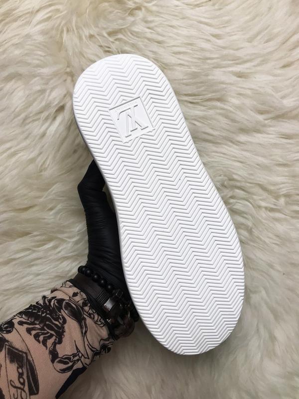 Sneakers brown white. женские кожаные кроссовки. - Фото 4