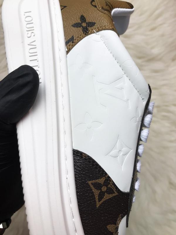 Sneakers brown white. женские кожаные кроссовки. - Фото 7