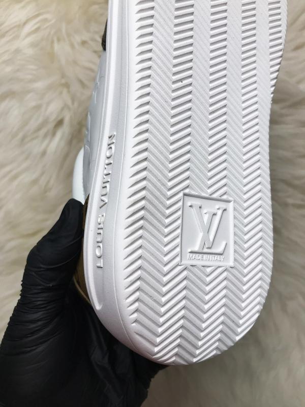 Sneakers brown white. женские кожаные кроссовки. - Фото 9
