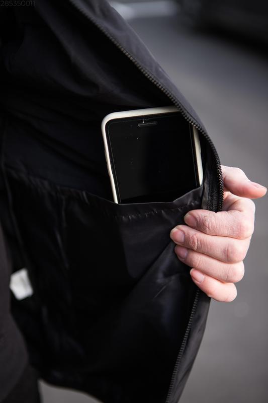 Мужская чёрная куртка с капюшоном осенняя курточка еврозима - Фото 6