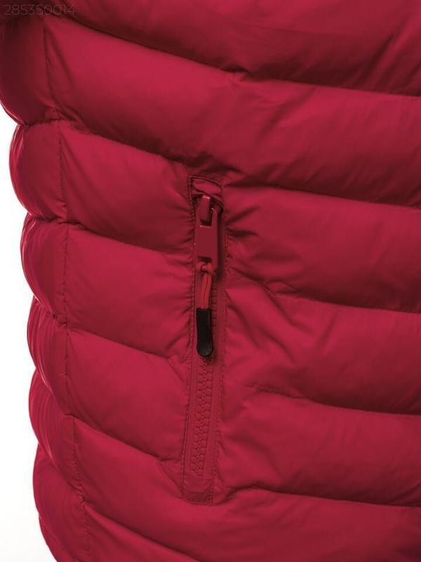 Мужская осенняя красная куртка без капюшона еврозима - Фото 5