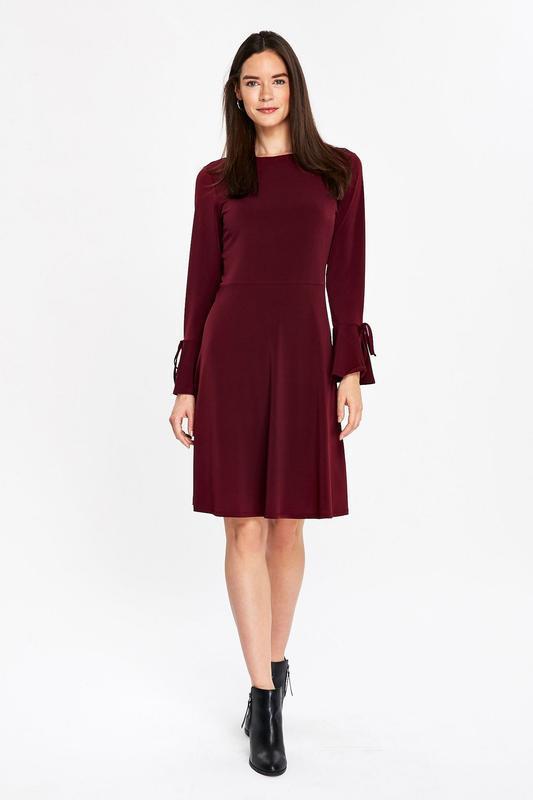 Мегаскидка!! wallis красивое удобное платье ягодного оттенка, ...