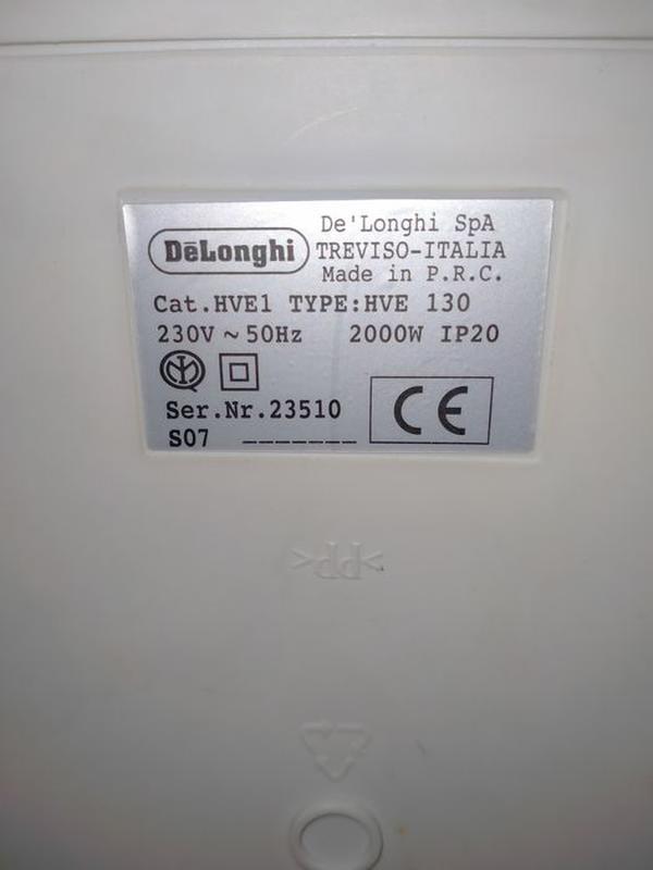 Тепловентилятор Delonghi HVE 130 - Фото 3