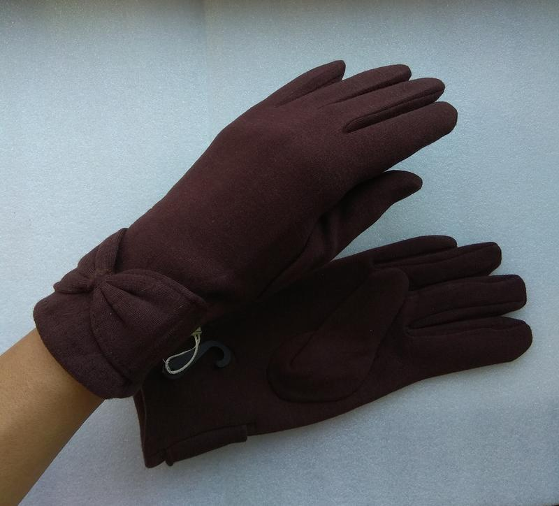 Новые стильные перчатки на флисе, темно-коричневые