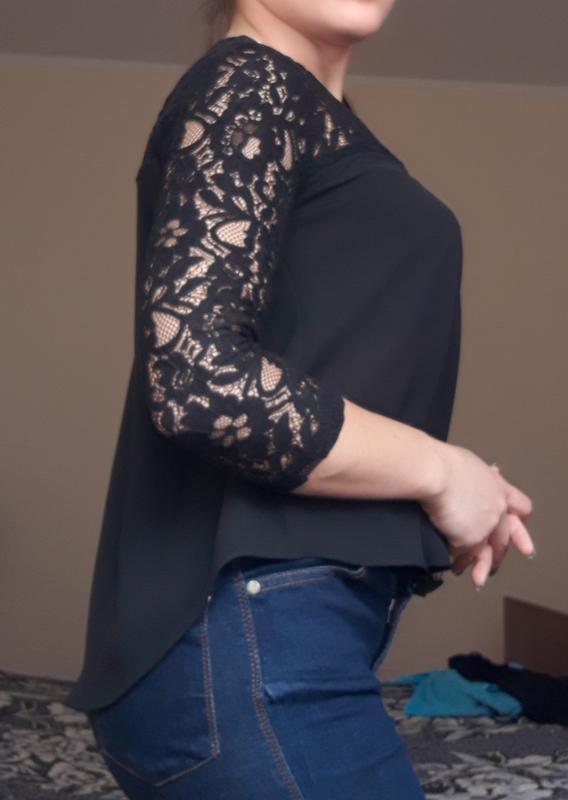 Блузка черная - Фото 2