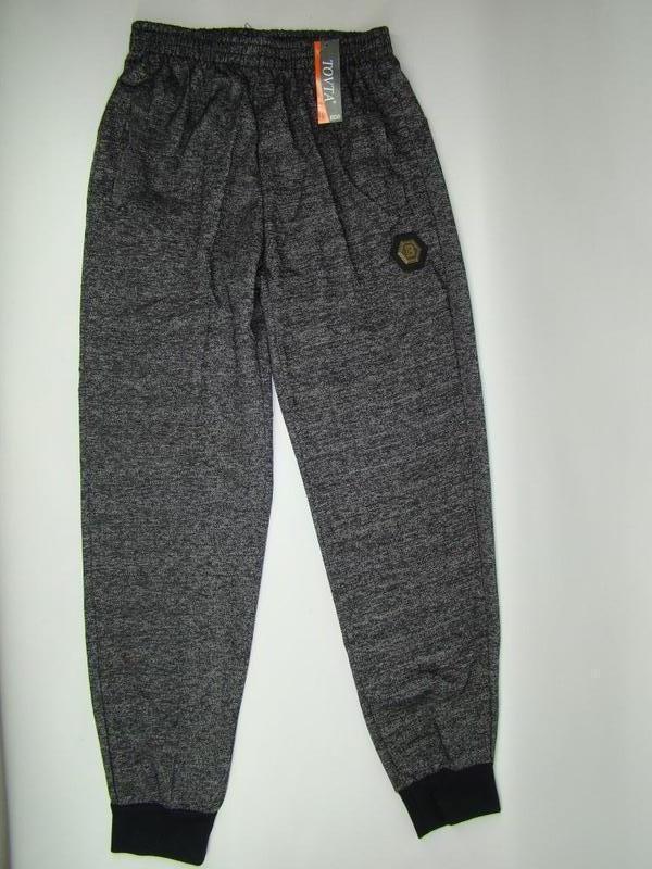 Трикотажные спортивные штаны tovta на манжетах (m-3xl) код 6021