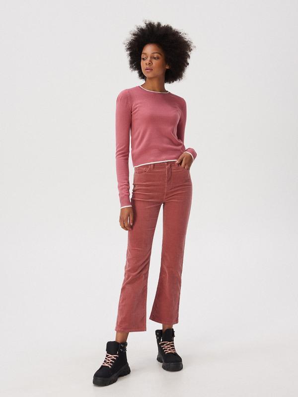 Новая короткая красная розовая амарантовая кофта свитер польша... - Фото 2