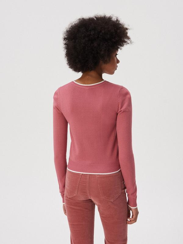 Новая короткая красная розовая амарантовая кофта свитер польша... - Фото 4