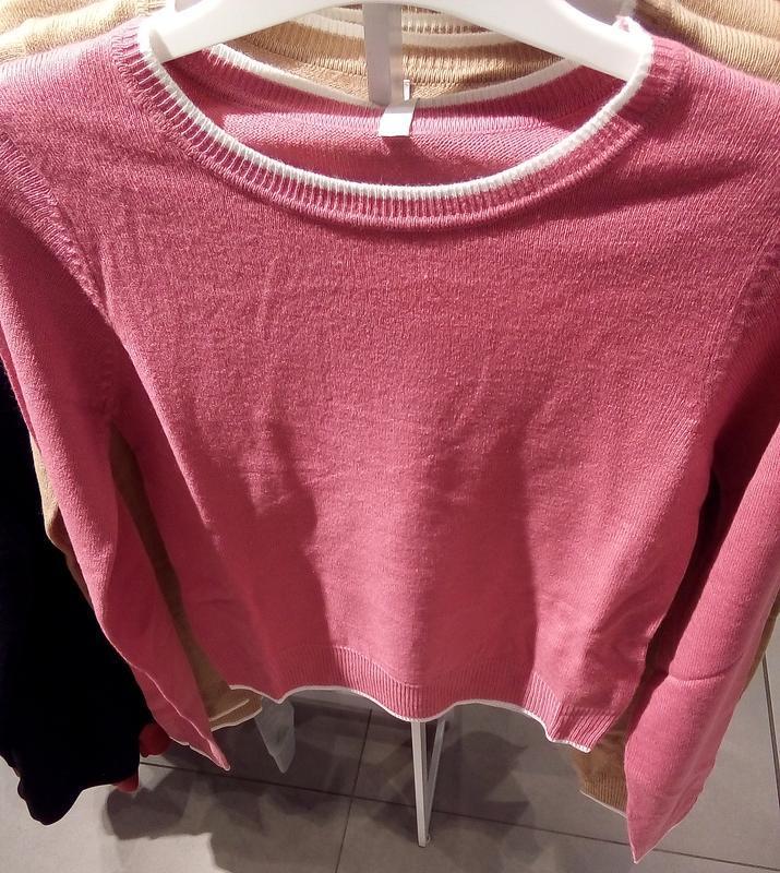 Новая короткая красная розовая амарантовая кофта свитер польша... - Фото 5