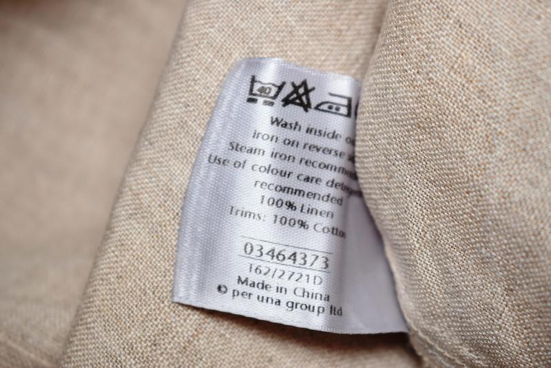 Симпатичная льняная блуза per una c коттоновым кружевом на груди - Фото 6