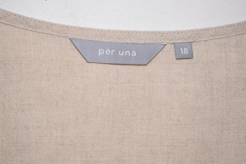 Симпатичная льняная блуза per una c коттоновым кружевом на груди - Фото 7