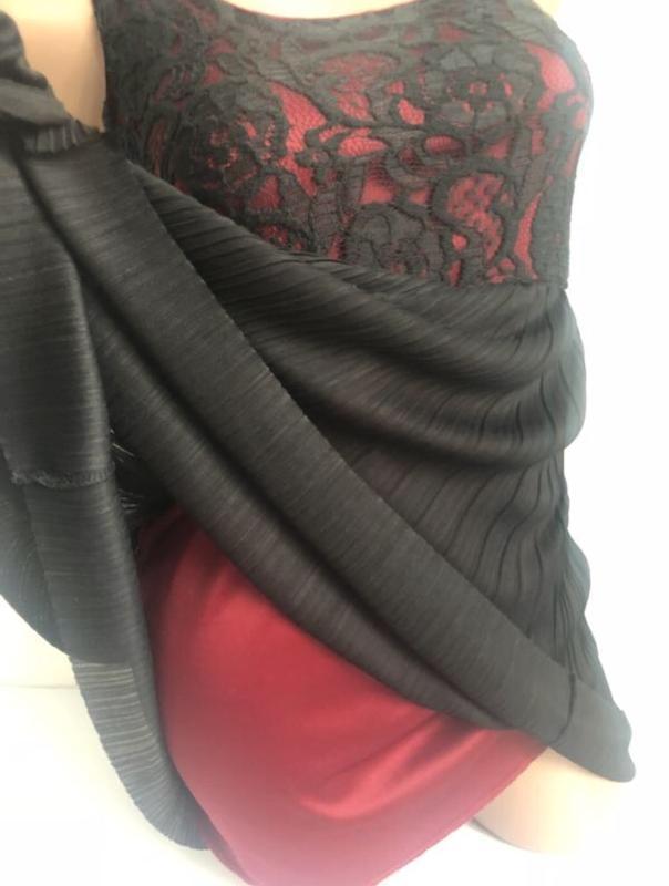 Платье сарафан плиссе гипюр с кружевом - Фото 4