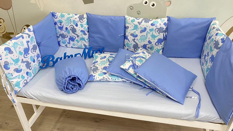 Бортики подушечки в кроватку - Фото 5