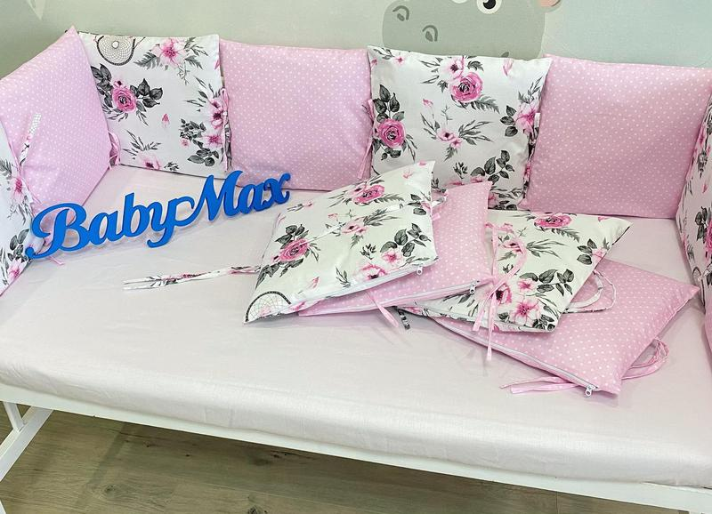 Бортики подушечки в кроватку - Фото 10